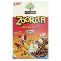 Granola Orgânica Integral Mãe Terra Zooreta Kids com Cacau 250g - Cod. 7896496995103