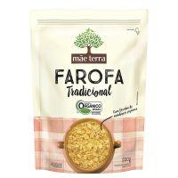 Farofa de Mandioca Orgânica Tradicional Mãe Terra Pacote 200g - Cod. 7896496913503