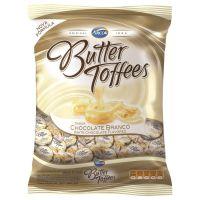 Bolsa de Bala Butter Toffes Chocolate Branco 600g (92 un/cada) - Cod. 7891118014491