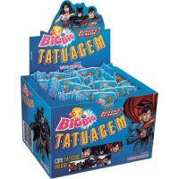 Display de Chicle Bigbig Tatto Liga Da Justiça 315g (90 un/cada) - Cod. 7891118015016