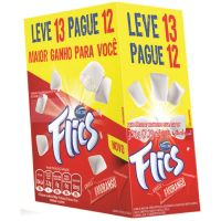 Display de Chicle Flics Morango 226g (13 un/cada) | Caixa com 1 - Cod. 7891118014880