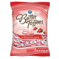 Bolsa de Bala Butter Toffes Morango com Creme 600g (92 un/cada) - Cod. 7891118015078