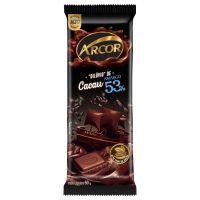display de Tablete de Chocolate Arcor Amargo 53% 50g (12 un/cada) - Cod. 7898142862531