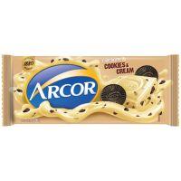 Display de Tablete de Chocolate Arcor Branco com Cookies 100g (14 un/cada) - Cod. 7898142862852