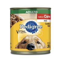 Ração Úmida Pedigree Lata Patê de Carne para Cães Adultos 280 g - Cod. 7896029079508