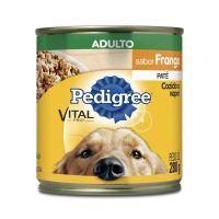 Ração Úmida Pedigree Lata Patê de Frango para Cães Adultos 280 g - Cod. 7896029079546
