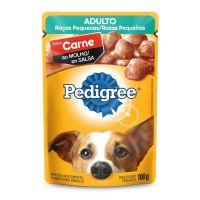 Ração Úmida Pedigree Sachê Carne ao Molho para Cães Adultos de Raças Pequenas 100 g - Cod. 7896029022245