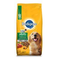 Ração Pedigree Carne e Vegetais Para Cães Adultos Raças Médias e Grandes 3 kg - Cod. 7797453062251