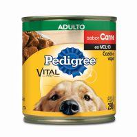 Ração Úmida Pedigree Lata Carne ao Molho para Cães Adultos 290 g - Cod. 7896029079560