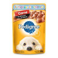 Ração Úmida Pedigree Sachê Carne ao Molho para Cães Filhotes 100 g - Cod. 7896029015001