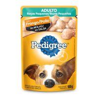 Ração Úmida Pedigree Sachê Frango ao Molho para Cães Adultos de Raças Pequenas 100 g - Cod. 7896029022269