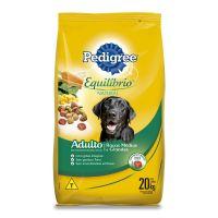 Ração Pedigree Equilíbrio Natural para Cães Adultos Raças Médias e Grandes 20 kg - Cod. 7896029095737