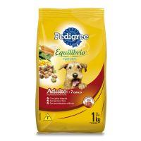 Ração Pedigree Equilíbrio Natural para Cães Adultos Sênior 7+ Anos 1 kg - Cod. 7896029058176