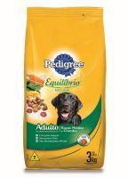 Ração Pedigree Equilíbrio Natural para Cães Adultos Raças Médias e Grandes 3 kg - Cod. 7896029095744