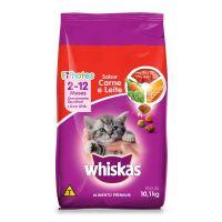Ração Whiskas Carne e Leite Para Gatos Filhotes 10,1 kg - Cod. 7896029007464