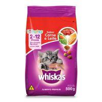 Ração Whiskas Carne e Leite Para Gatos Filhotes 500 g - Cod. 7896029007303