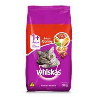 Ração Whiskas Carne Para Gatos Adultos 3 kg - Cod. 7896029007419