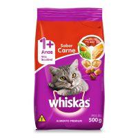 Ração Whiskas Carne Para Gatos Adultos 500 g - Cod. 7896029007013