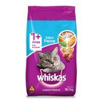 Ração Whiskas Peixe Para Gatos Adultos 10,1 kg - Cod. 7896029007259
