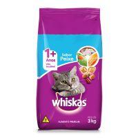 Ração Whiskas Peixe Para Gatos Adultos 3 kg - Cod. 7896029007426