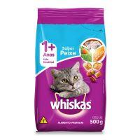 Ração Whiskas Peixe Para Gatos Adultos 500 g - Cod. 7896029007020