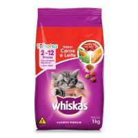 Ração Whiskas Carne e Leite Para Gatos Filhotes 1 kg - Cod. 7896029041338