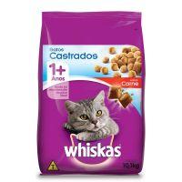 Ração Whiskas Carne Para Gatos Adultos Castrados 10,1 kg - Cod. 7896029087015