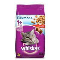 Ração Whiskas Carne Para Gatos Adultos Castrados 500 g - Cod. 7896029086995