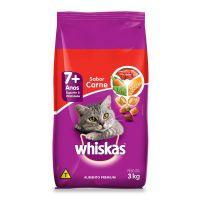 Ração Whiskas Carne Para Gatos Adultos Senior 7 Anos ou Mais 3 kg - Cod. 7896029003831