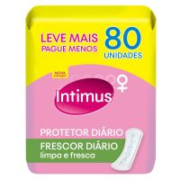 Protetor Diário Intimus c/ Perfume s/ Abas 80un - Cod. 7896007546022