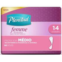 Protetor Diário Plenitud Femme Médio 14un | Caixa com 1 - Cod. 7896007549382