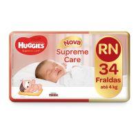 Fralda Huggies Supreme Care Mega RN 34un - Cod. 7896007549634