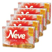 Papel Higiênico NEVE Toque de Seda - 5 Pacotes com 10 Rolos - Cod. 7896018704237C5