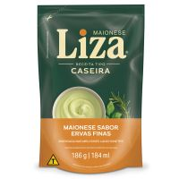 Maionese Liza Caseira Ervas Finas 186g - Cod. 7896036000014