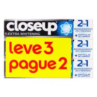 Oferta Creme Dental Closeup Extra Whitening Leve 3 Pague 2 90g - Cod. 7891150052499
