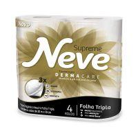 Papel Higiênico Neve Supreme Folha Tripla 20m 4un | Caixa com 1 - Cod. 7891172422607