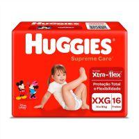 Fralda Huggies Supreme Care Jumbo XXG 16un - Cod. 7896007548392