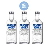 Combo COMPRE 3 Absolut Vodka Original Sueca 750ml e GANHE 10% de desconto no combo - Cod. C34287