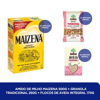 Amido de Milho Maizena 500g + Granola Tradicional 250g + FLOCOS DE AVEIA INTEGRAL 170G - Cod. C40822