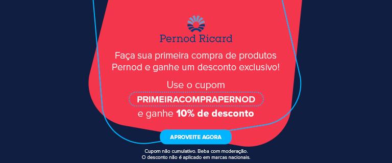 CA - Cupom Primeira Compra 10% Pernod Ricardo - Julho/2021