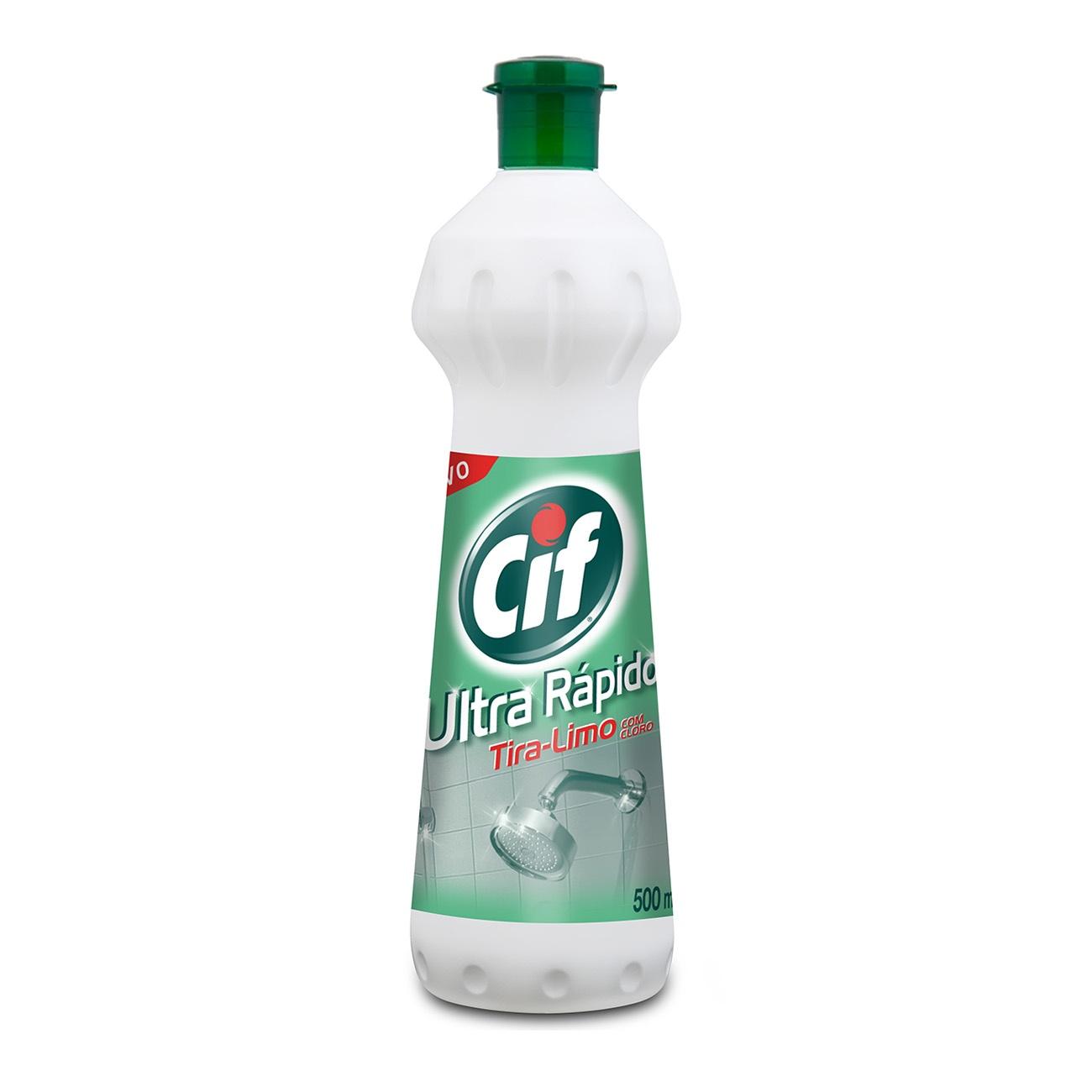 Limpador CIF Ultra R�pido Tira-Limo Com Cloro Spray 500ml