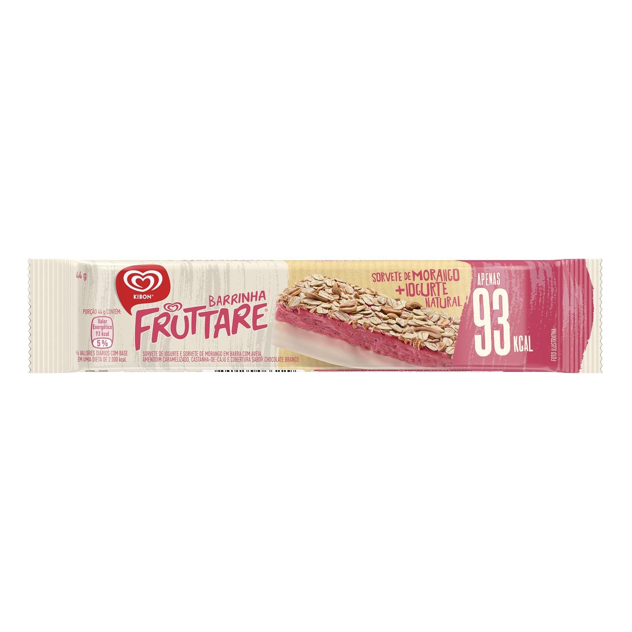 Sorvete Kibon Fruttare Barrinha Morango 44ML   Caixa com 18