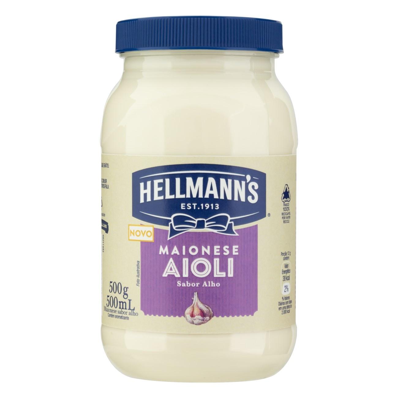 Maionese Aiolli Hellmann's Alho 500g