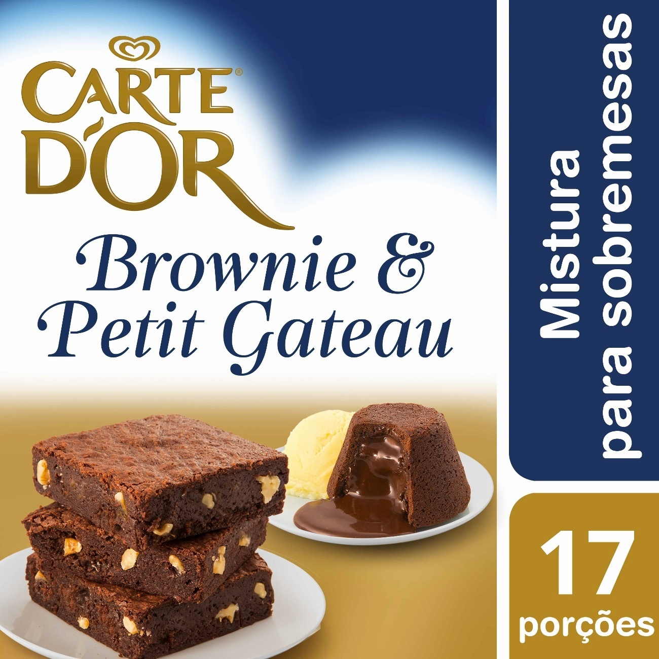 Sobremesa Carte D'Or Brownie e Petit Gateau 800g | 1 unidades