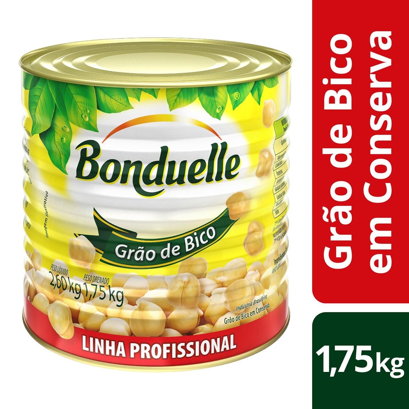 Grão de Bico em Conserva Bonduelle  1,75kg | 1 unidades