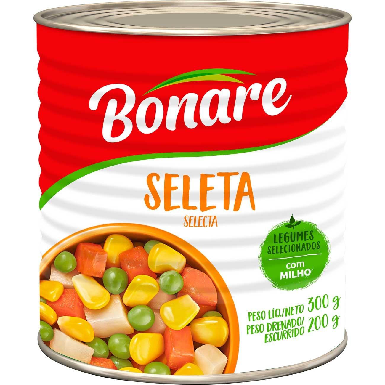 Seleta Legumes Bonare Lata 200g| Caixa com 24 unidades