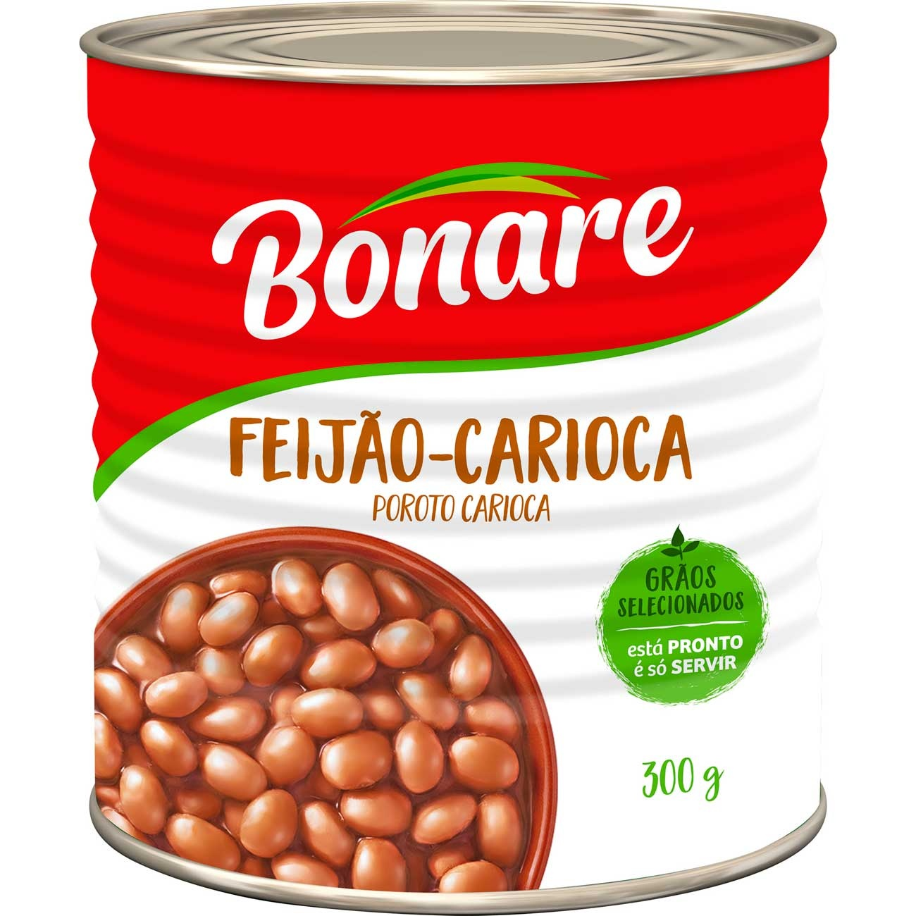Feij�o Carioca Bonare Pronto Lata 300g | Caixa com 24 unidades