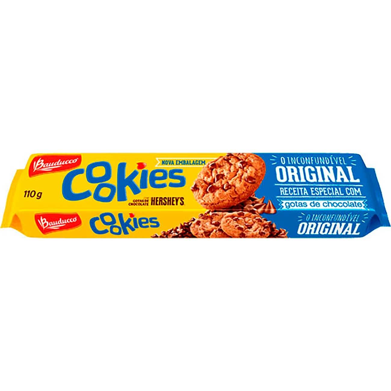 Biscoito Cookies Bauducco Original 110g | Caixa com 40 unidades
