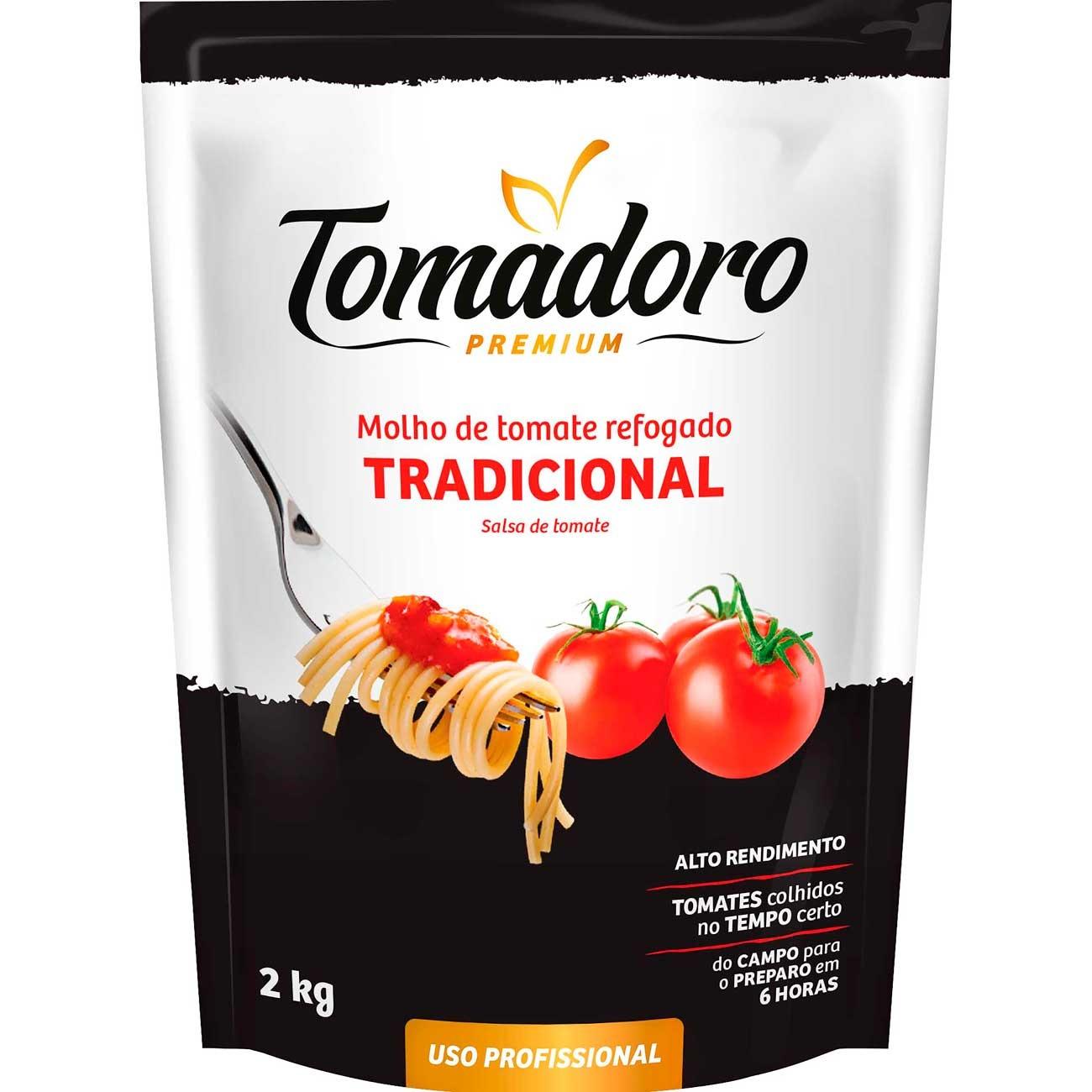 Molho De Tomate Tomadoro Premium Tradicional 2kg