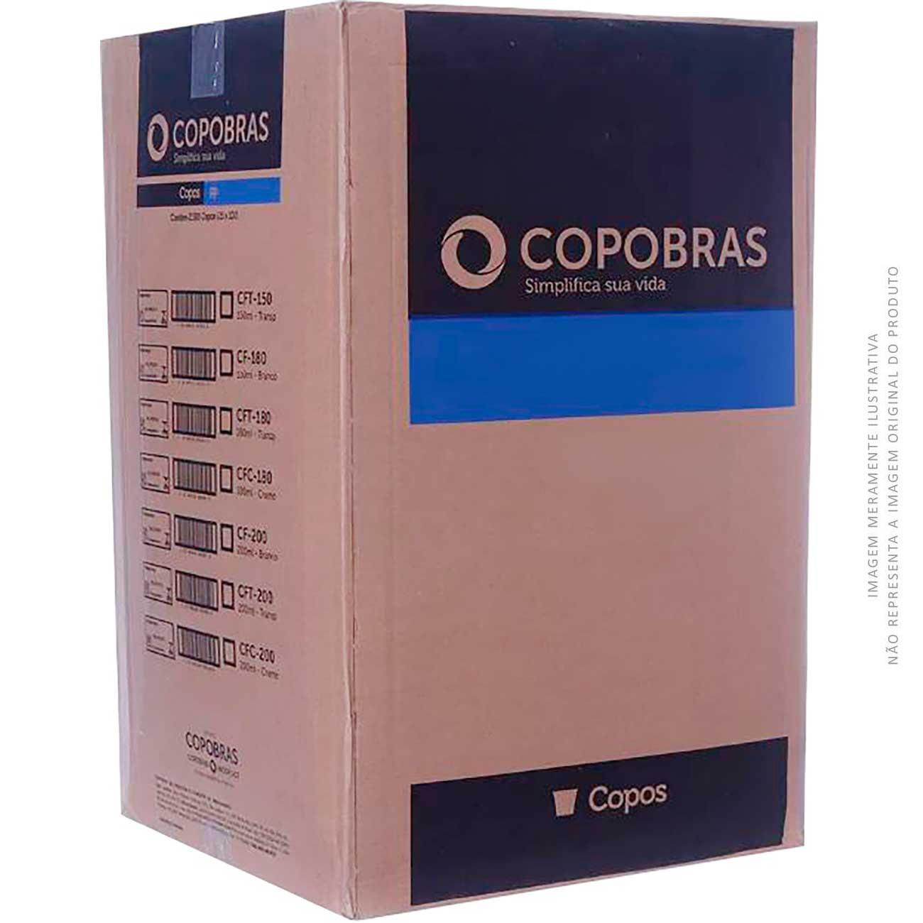 Copo Descart�vel Copobr�s Transparente Pp Biodegad�vel Cfb-050 50ml | Caixa com 5000 unidades